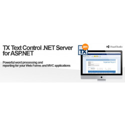 TX Text Control .NET Server for ASP.NET X11 (21.0). 1 developer license. Include licenze 5 run time.